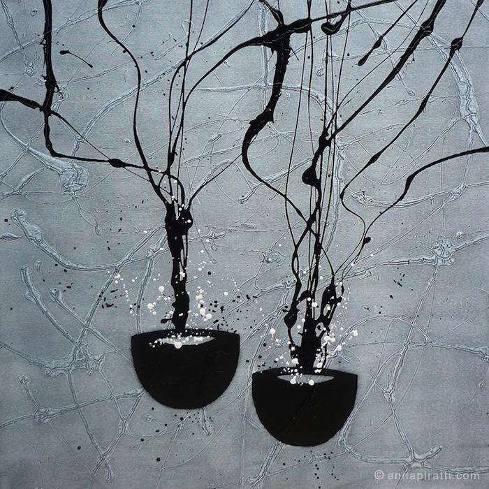 Anna Piratti, Attesa, VASI COMUNICANTI / paintings / acrilic on canvas 2013