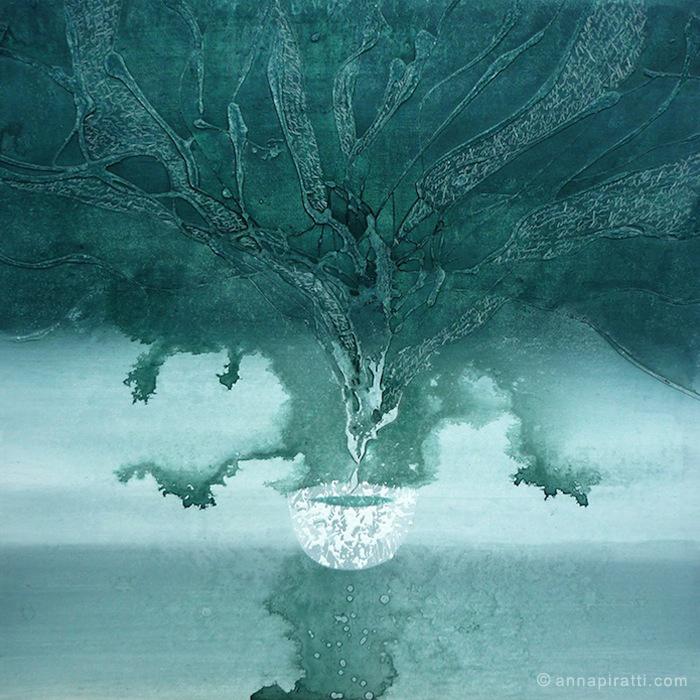 Anna Piratti, Speranza, VASI COMUNICANTI / paintings / acrilic on canvas 2013