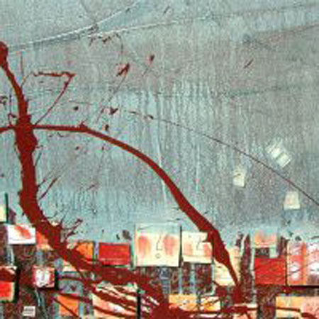 Anna Piratti, FACCIA A FACCIA / paintings / mixture of techniques on canvas