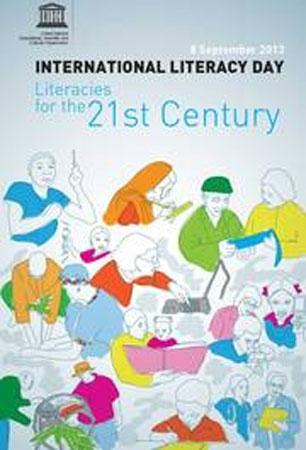 Poster della Giornata internazionale per l'alfabetizzazione 2013