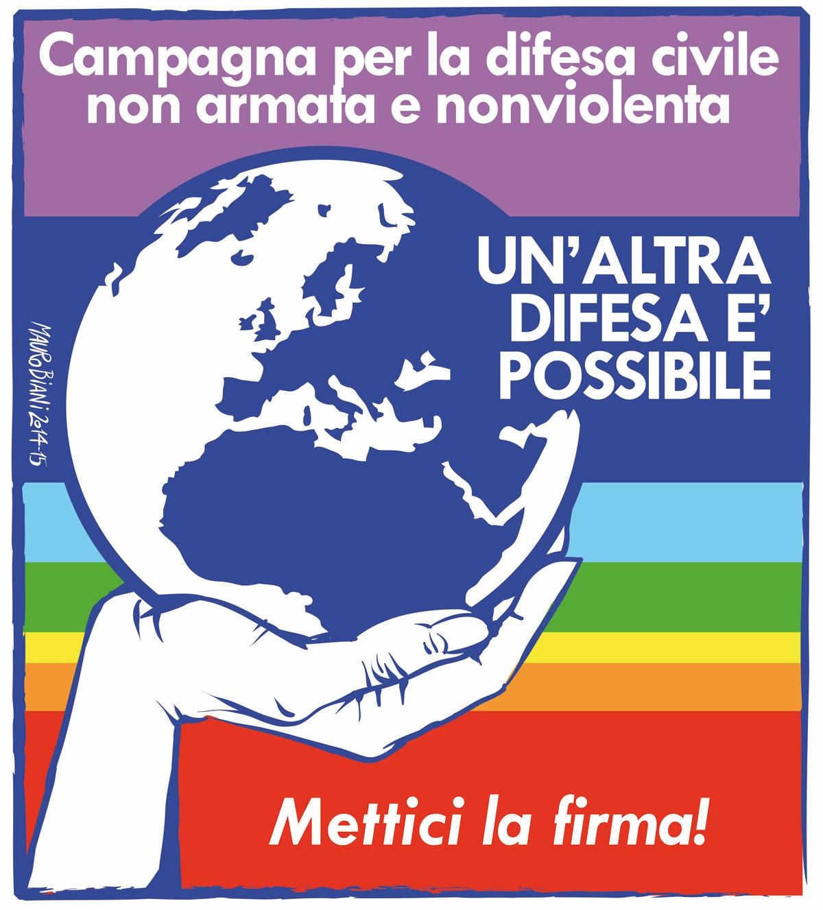 Logo della Campagna per la difesa civile non armata e nonviolenta