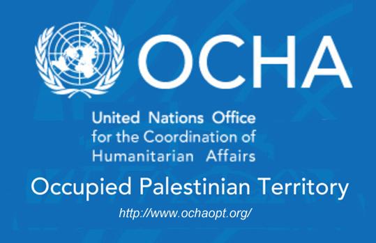 Logo Ufficio delle Nazioni Unite per il coordinamento degli affari umanitari nei territori palestinesi occupati