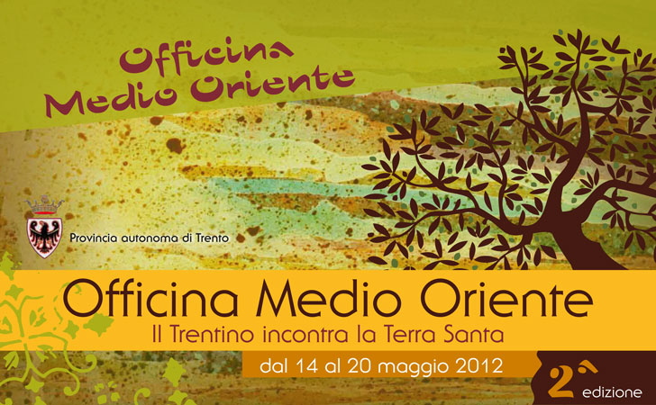 Immagine della locandina della seconda edizione di Officina Medio Oriente, 14-20 maggio 2012