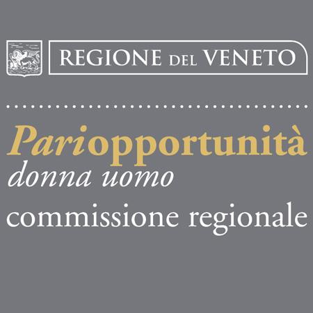 Ritaglio dalla copertina della brochure informativa della Commissione per la realizzazione delle pari opportunità tra uomo e donna della Regione del Veneto