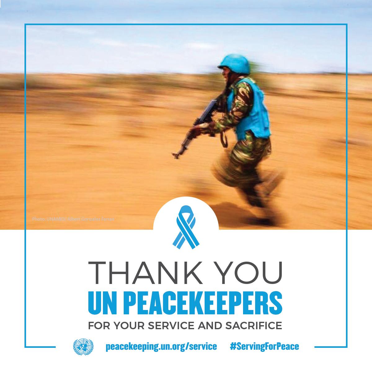 Grazie per il tuo servizio di pace e sacrificio