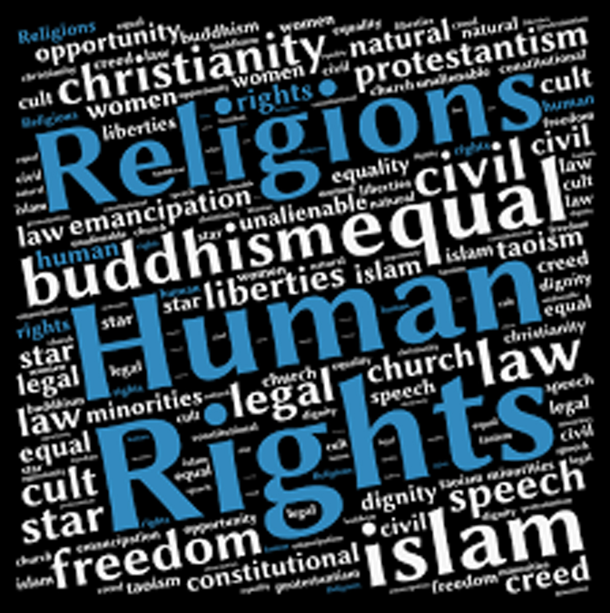 """International Conference """"Religions and Human Rights"""" Logo"""