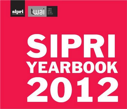 Copertina del Yearbook del SIPRI, 2012
