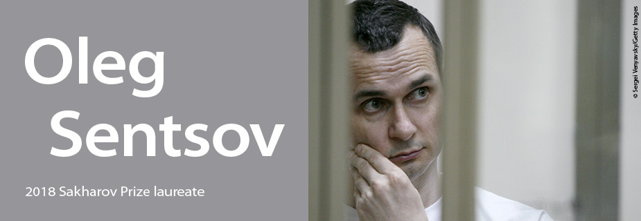 The European Parliament awarded the 2018 Sacharov Prize for freedom of thought to Oleg Sentsov