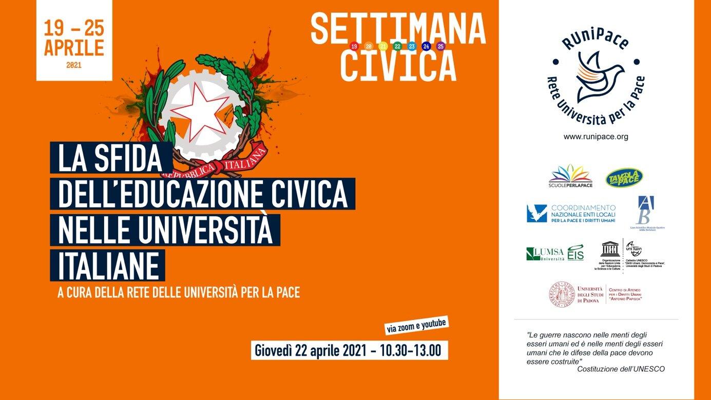 Seminario Rete Universitaria per la Pace 22 aprile 2021