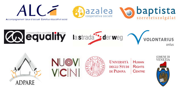 A collection of project partners' logos