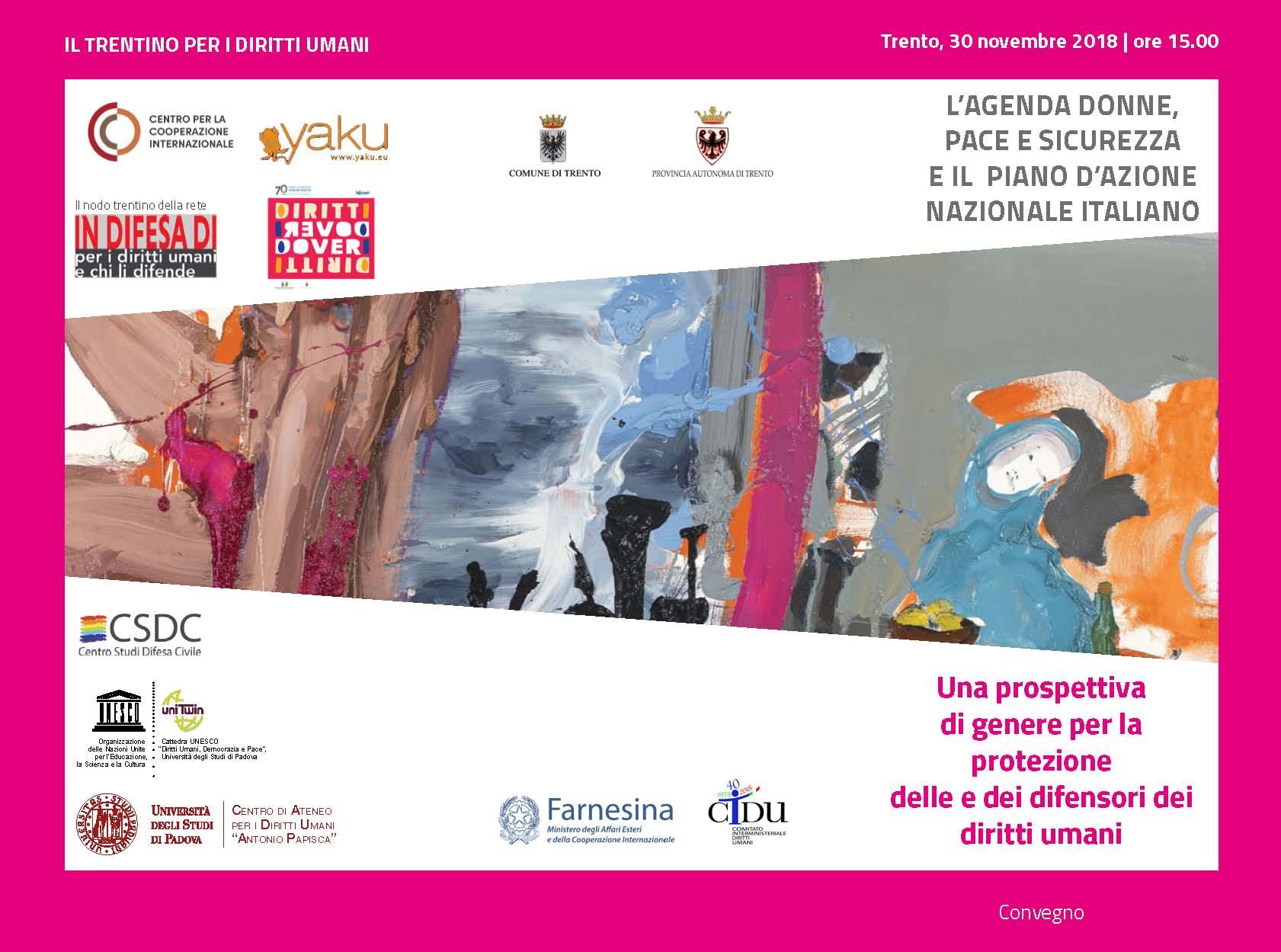 L'Agenda Donne, Pace e Sicurezza e il Piano d'azione nazionale italiano: Una prospettiva di genere per la protezione delle e dei difensori dei diritti umani
