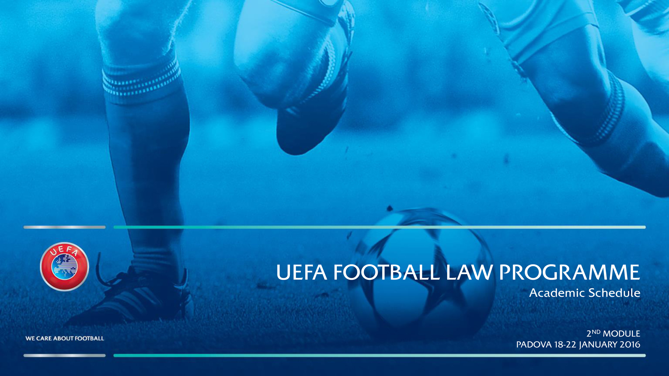 UEFA Football Law Programme, Padova, 18-22 gennaio 2016