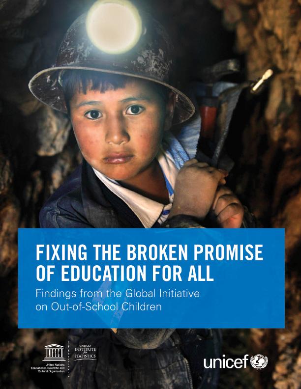 Copertina del Rapporto: un bambino che lavora in miniera.
