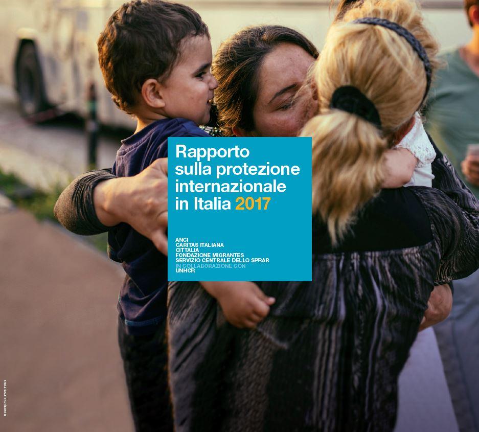 UNHCR, Copertina rapporto 2017 sulla protezione internazionale in Italia