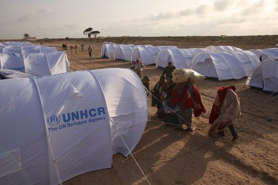 Campo di Transito dell'UNHCR situato a otto chilometri dal confine tunisino con la Libia, 2011