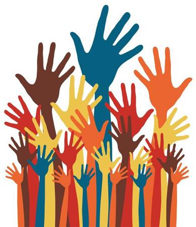 Tante mani di diverso colore