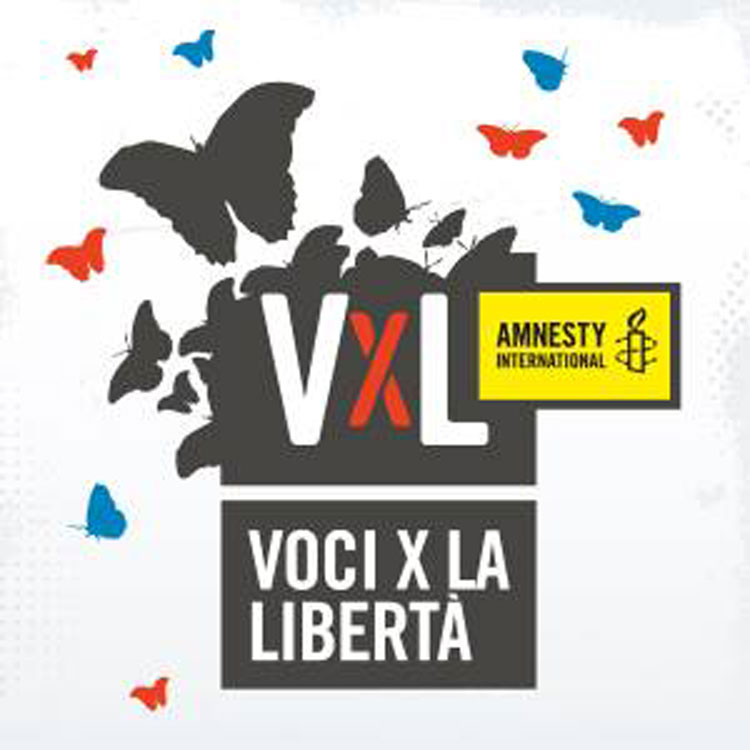 Logo del concorso Voci per la libertà. Una canzone per Amnesty