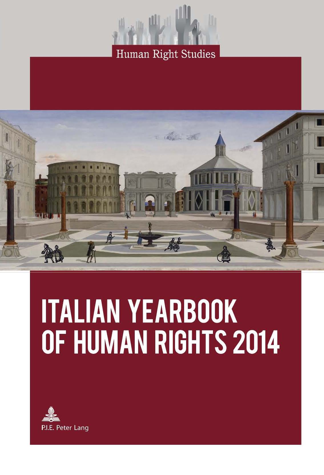 Copertina dello Italian Yearbook of Human Rights 2014,  Brussels, Peter Lang, 2014