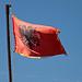 Bandiera Albanese colore rosso con l'aquila a due tese di colore nero