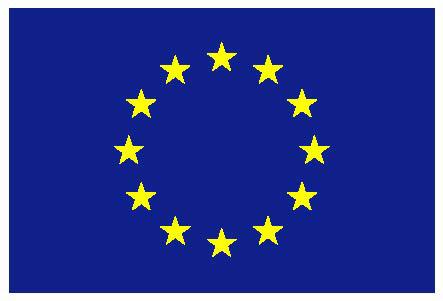 La bandiera dell'Unione Europea: le 12 stelle in cerchio simboleggiano gli ideali di unità, solidarietà e armonia tra i popoli d'Europa.