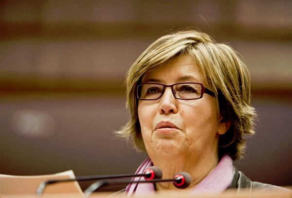 Un primo piano di Mercedes Bresso, eletta nuova Presidente del Comitato delle Regioni dell'Unione Europea