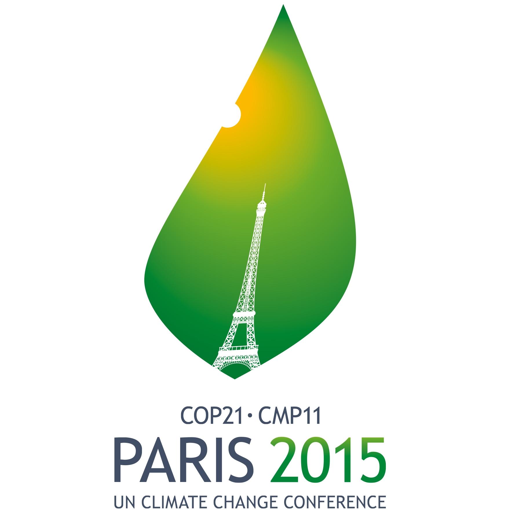 Logo della ventunesima edizione della Conferenza delle Parti della Convenzione quadro delle Nazioni Unite sui cambiamenti climatici