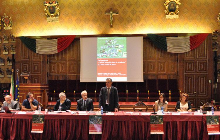 Da sinistra: Primo Di Blasio, Samuele Filippini, Renzo Guolo, Marco Mascia, Luigi Bobba, Valentina Rodolfi e Federica Cova.