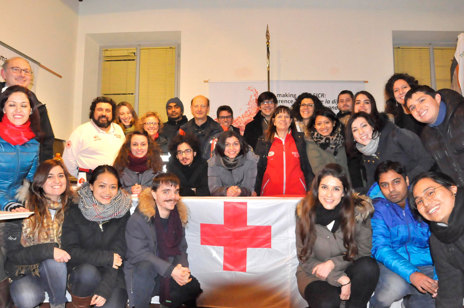 A group of students of the MA Degree Programme in Human Rights and Multi-level Governance visit the Red Cross International Museum of Castiglione delle Stiviere,  January 14th, 2016