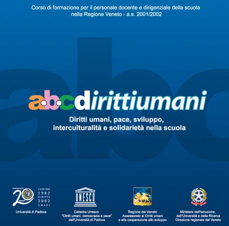 """Immagine della copertina del Cd-rom: """"ABCdirittiumani"""", 2002"""