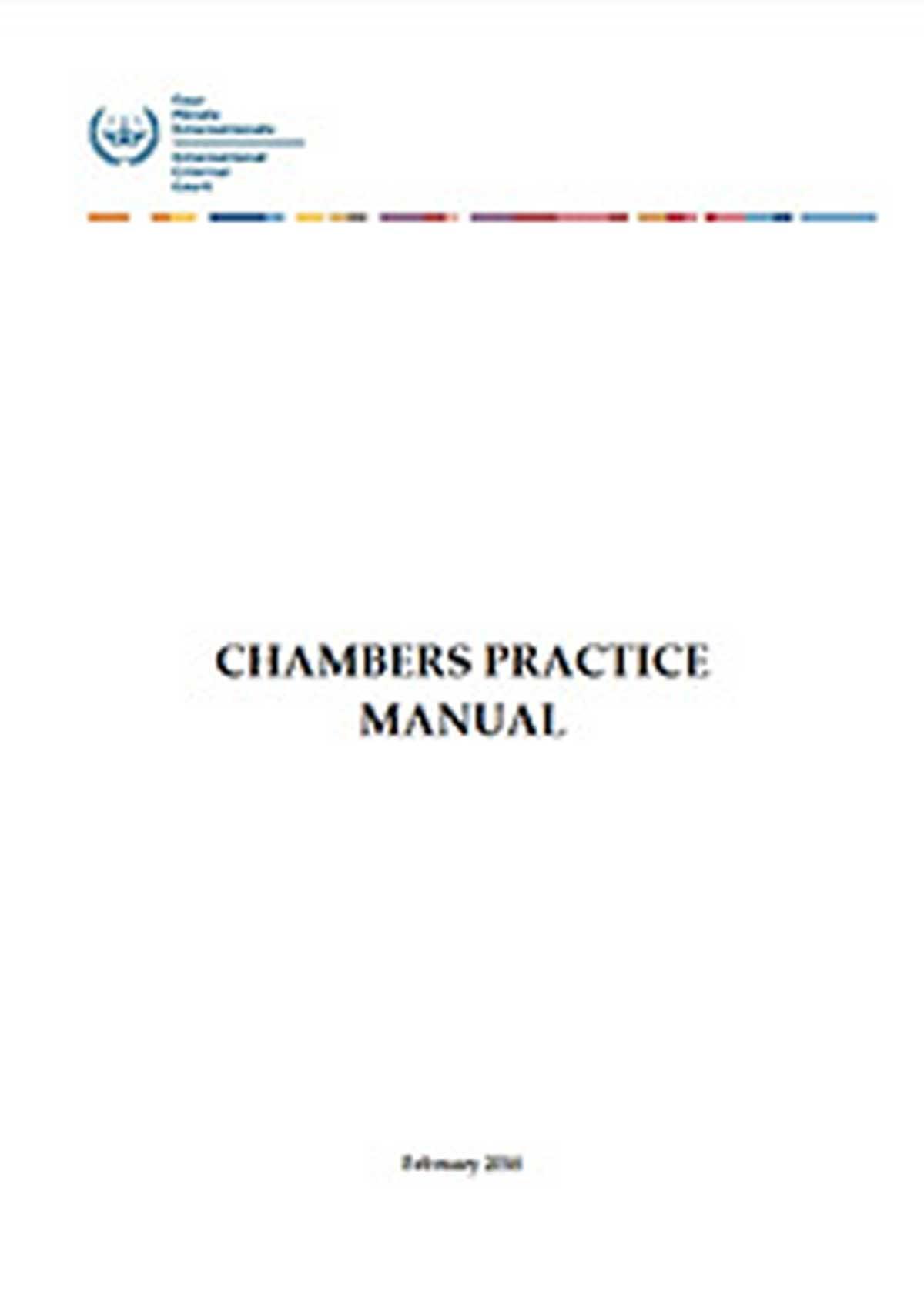 Copertina del manuale della camera preliminare