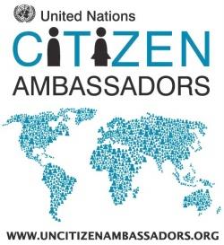 """Logo della Campagna 2010 """"Cittadini Ambasciatori delle Nazioni Unite"""""""