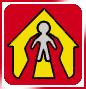 Due mani sorreggono un bambino all'interno di una casa stilizzata