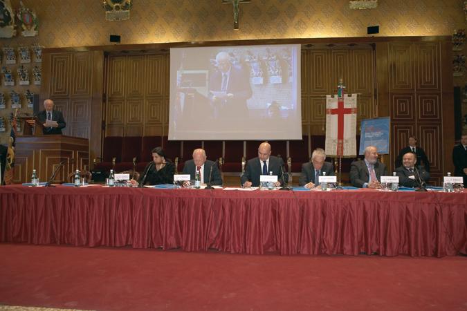 Tavolo della presidenza, Seduta straordinaria del Consiglio Regionale, Aula Magna, Università di Padova, 10 dicembre 2007.