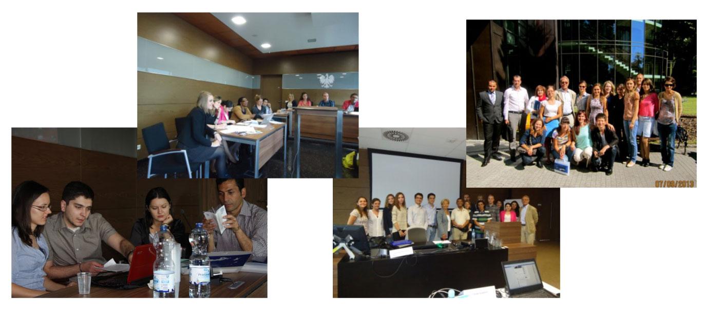 Foto di gruppo dei partecipanti delle edizioni passate del corso sulla protezione internazionale dei diritti umani e la protezione delle minoranze nazionali, promosso dal Centro Diritti Umani di Poznań