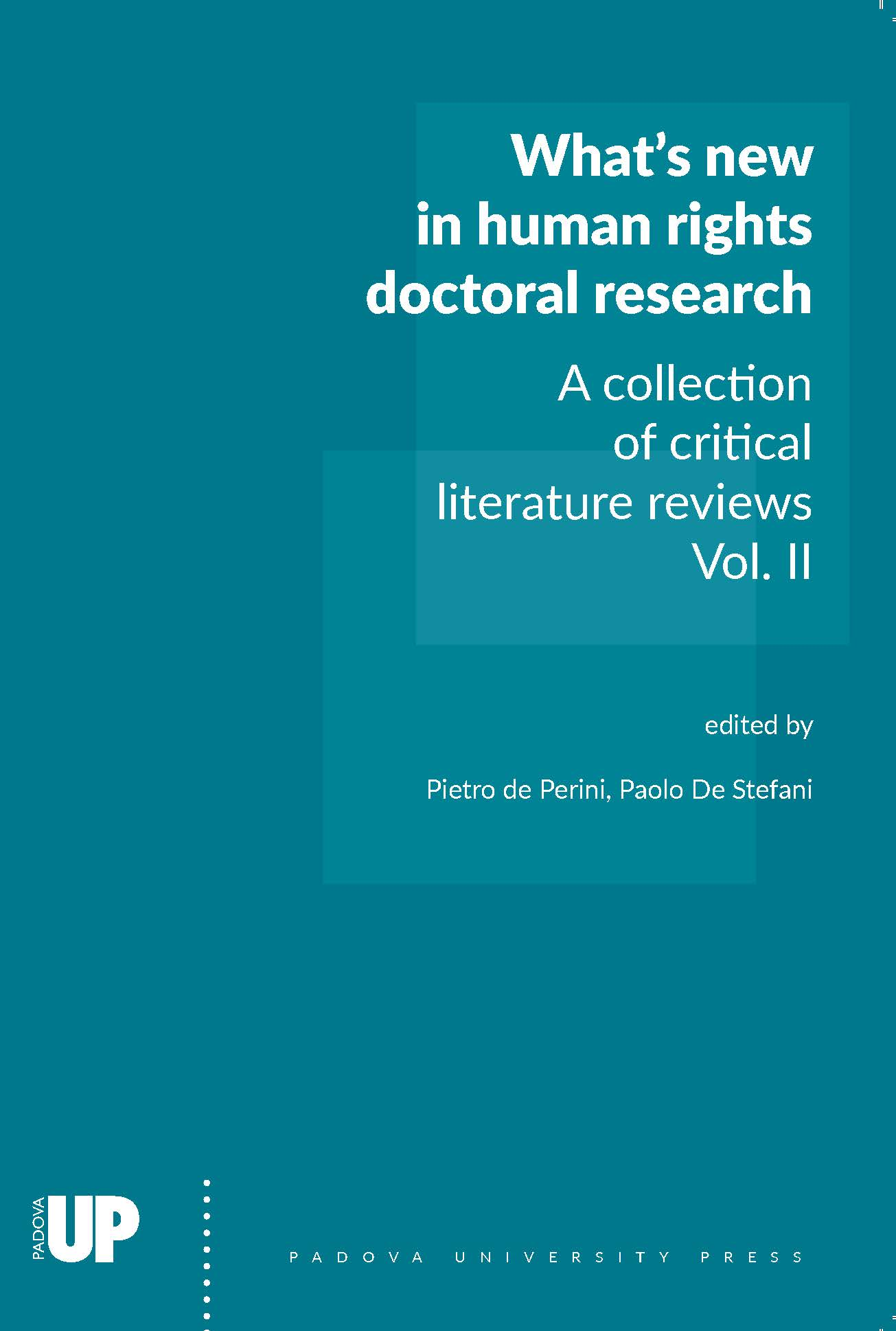 Whats new in Human Rights Doctoral Research, cover of vol. II