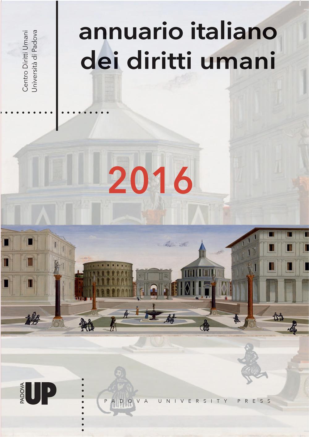 Annuario italiano dei diritti umani 2016, copertina