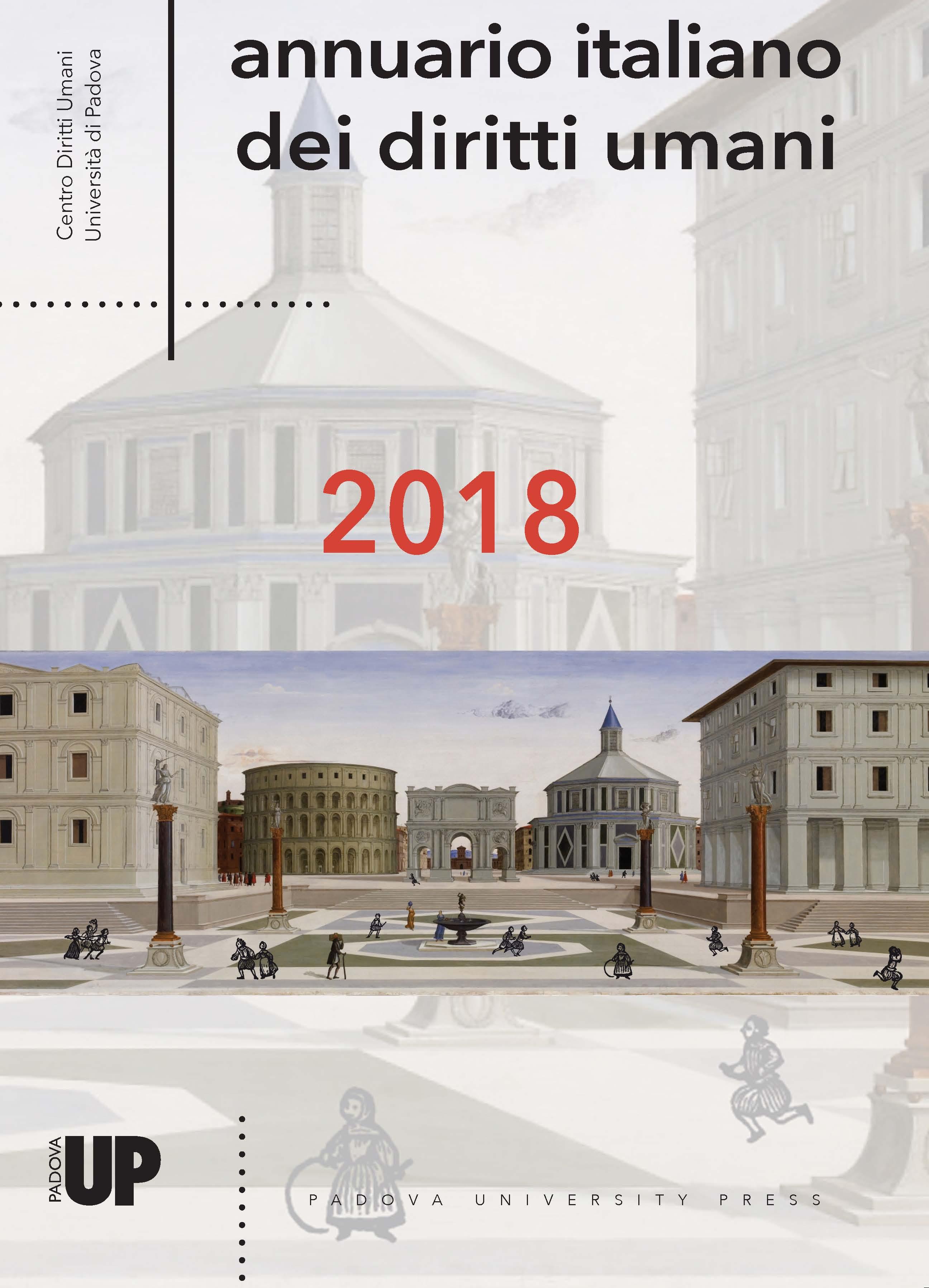 Copertina dell'Annuario italiano dei diritti umani 2018