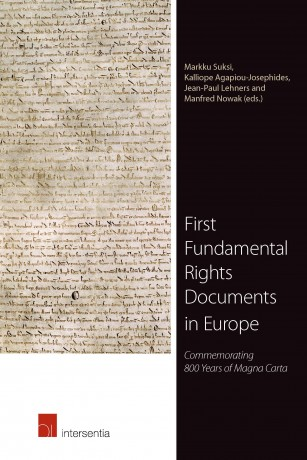 Cover of the book, First Fundamental Rights Documents in Europe, 2015