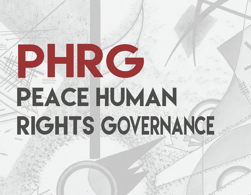 Cover Peace Human Rights Governance Journal PHRG - 2017