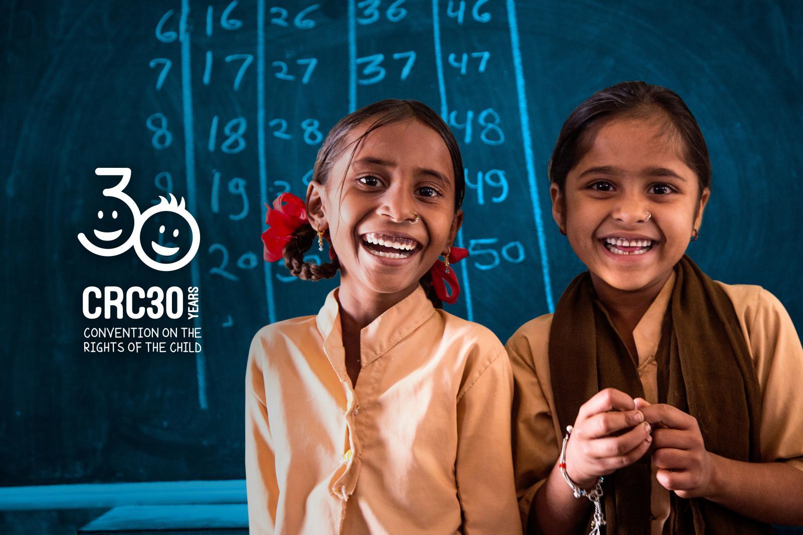 Logo per i 30 anni della Convenzione sui diritti dell'infanzia e dell'adolescenza