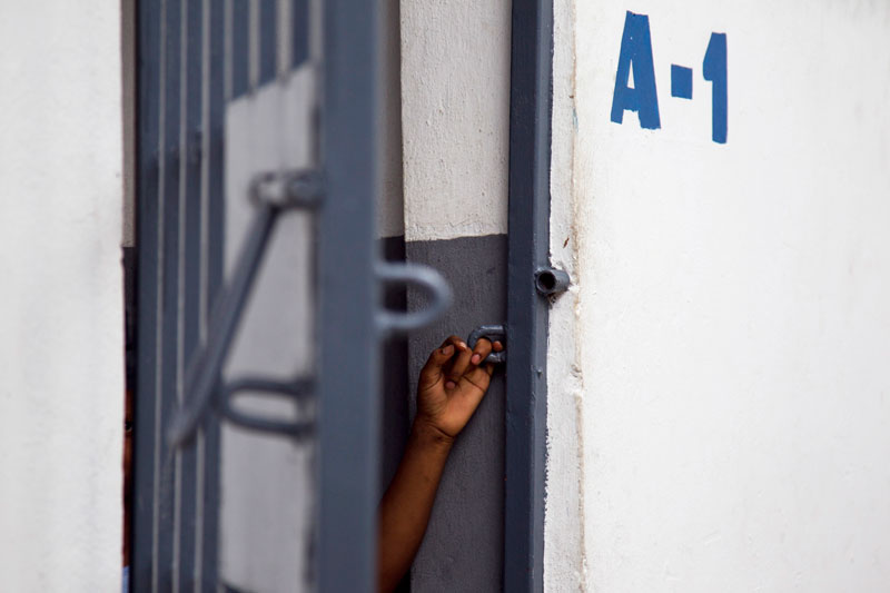 Cella di detenzione in una prigione di Port-au-Prince, Haiti