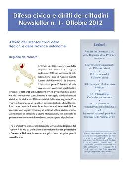 Newsletter Difesa civica e diritti dei cittadini, 1-2012
