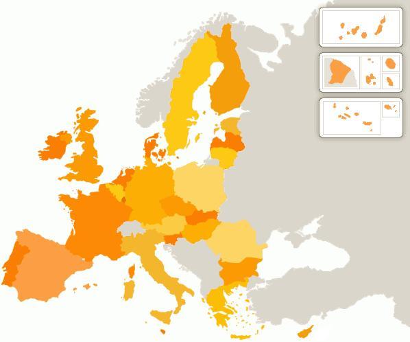 Mappa dell'Unione Europea
