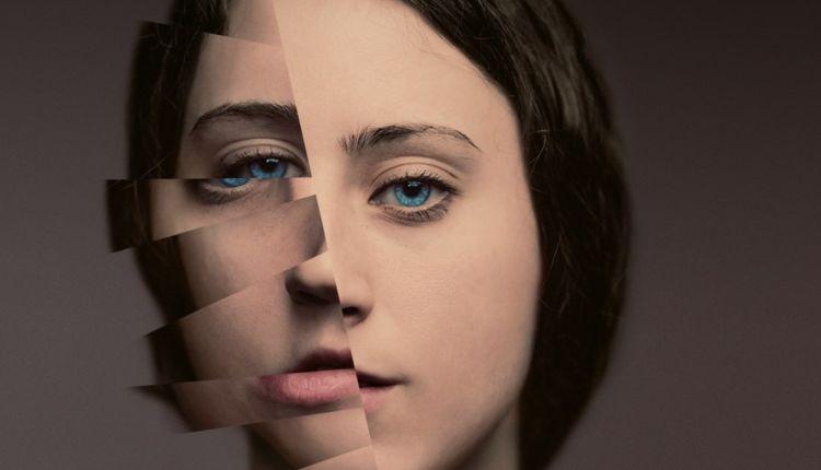 Locandina Festival dei diritti umani 2019. Un volto femminile diviso a metà.