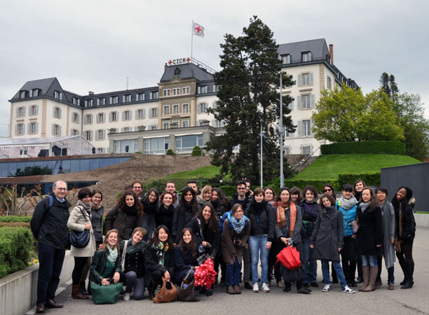 Study trip to Geneva of post-graduate students on human rights of the University of Padua (19-23 May 2013)