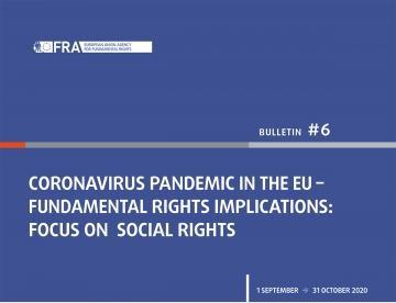Pandemia Covid-19 nell'UE - Ripercussioni sui diritti fondamentali - Bollettino 6