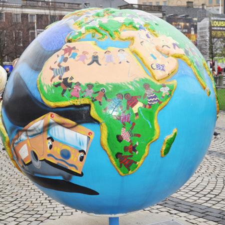 """Installazione artistica """"Idee per un pianeta migliore"""", realizzata in occasione della Conferenza delle Nazioni Unite sul cambiamento climatico, Copenhagen 2009"""