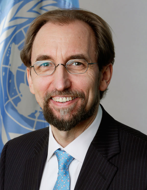 half-length portrait of Zeid Ra'ad Al Hussein