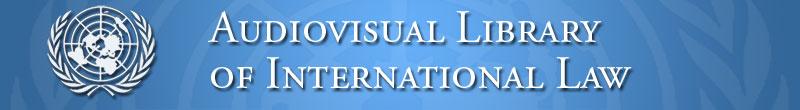 Logo Biblioteca audiovisuale delle Nazioni Unite sul diritto internazionale