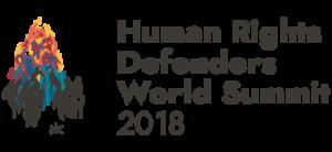 Logo del Summit mondiale dei difensori dei diritti umani 2018